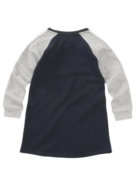 kinder sweatjurk blauw blauw - 1000011244 - HEMA