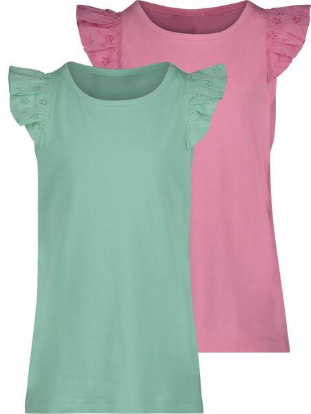 2-pak kinder t-shirts roze roze - 1000019061 - HEMA