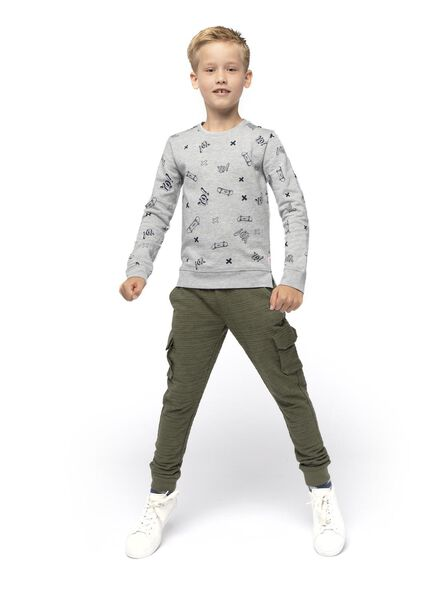 kinder sweatbroek donkergroen donkergroen - 1000016743 - HEMA