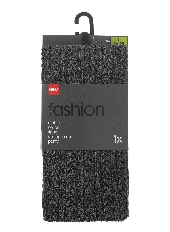 HEMA Maillot Fashion Kabel Grijs (grijs)