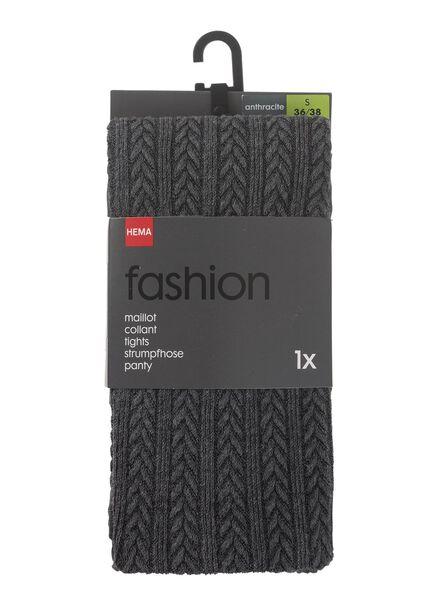maillot fashion kabel grijs 44/46 - 4050258 - HEMA