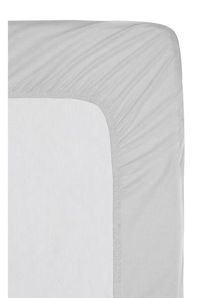 hoeslaken - hotel katoen percal - 180 x 200 cm - lichtgrijs - 5140039 - HEMA
