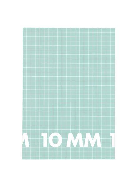 schriften A4 geruit 10x10mm mint - 3 stuks - 14101613 - HEMA