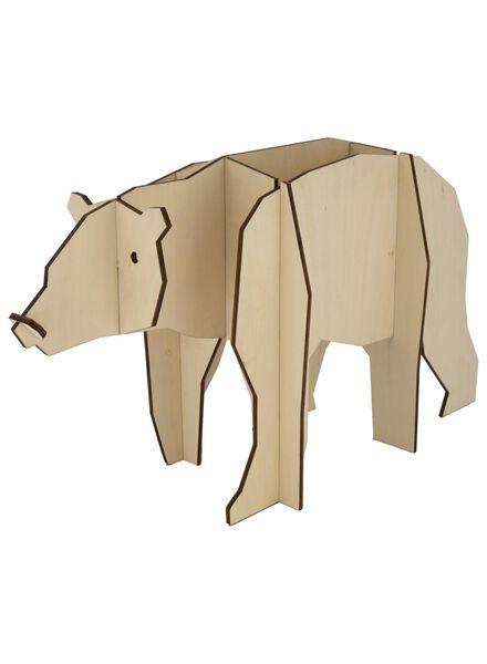 houten ijsbeer 45x18x27 - 25103059 - HEMA