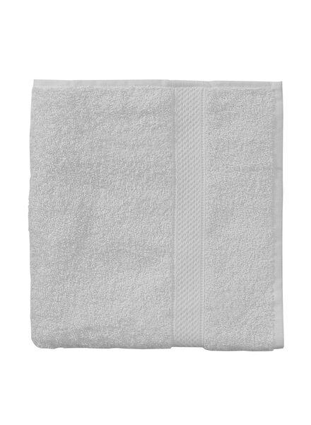 baddoek zware kwaliteit 50 x 100 - licht grijs - 5240203 - HEMA