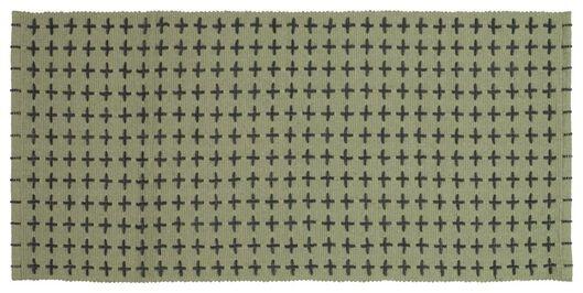 Dagaanbieding - vloerkleed met plusjes 65x135 recycled katoen dagelijkse koopjes
