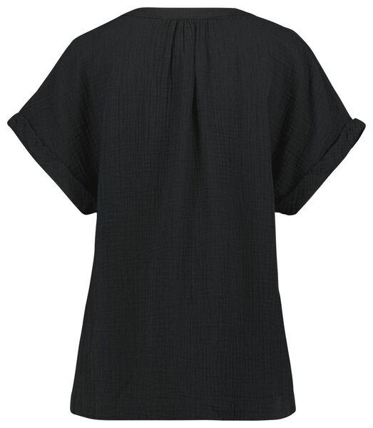 dames top zwart zwart - 1000024501 - HEMA