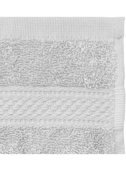 gastendoek - 30 x 55 cm - zware kwaliteit - lichtgrijs uni lichtgrijs gastendoekje - 5240206 - HEMA