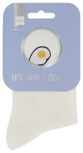sokken maat 42-46 'morning' ei wit - 61140090 - HEMA
