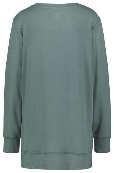 dames nachtshirt viscose fleece lovely groen S - 23422131 - HEMA