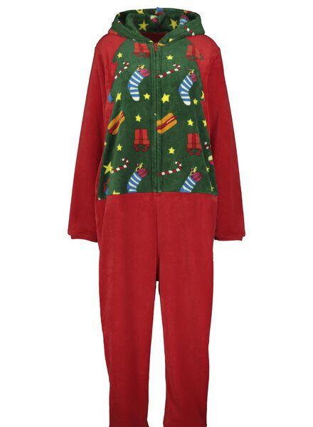 kerst onesie volwassenen rood rood - 1000016963 - HEMA