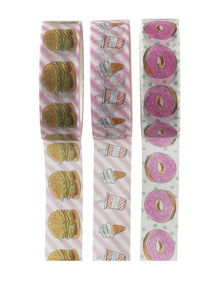 3-pak washi tapes Blond - 14940168 - HEMA
