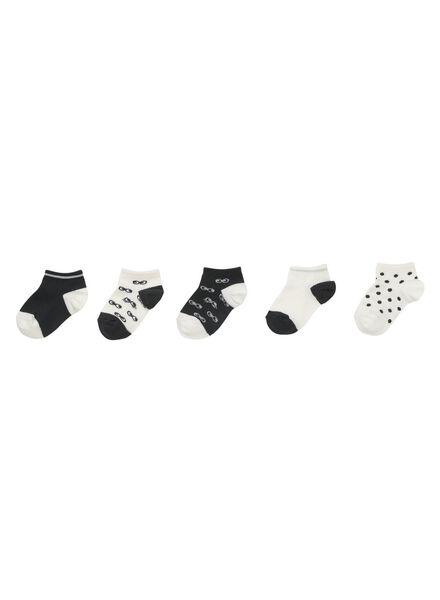 5-pak kinder enkelsokken grijs grijs - 1000011727 - HEMA