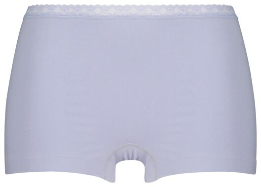 damesboxer naadloos lichtblauw XL - 19658824 - HEMA