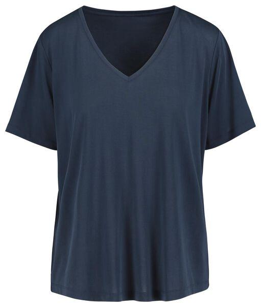 dames t-shirt donkerblauw donkerblauw - 1000019414 - HEMA
