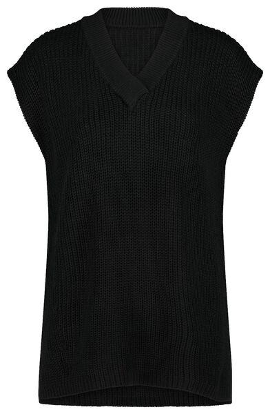 dames spencer gebreid zwart S - 36234196 - HEMA