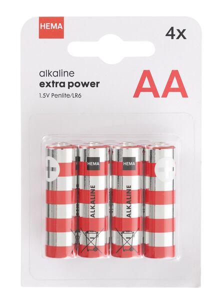 4-pak AA batterijen - 41290251 - HEMA