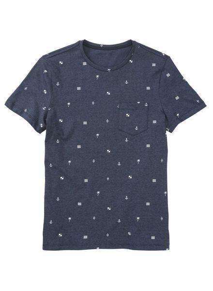 heren t-shirt blauw blauw - 1000011519 - HEMA
