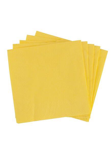 servetten - 33 x 33 - papier - geel - 20 stuks - 25800101 - HEMA