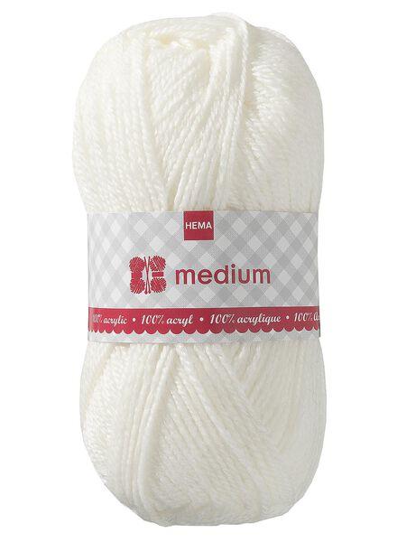 breigaren medium - wolwit medium 100 g wolwit - 1400041 - HEMA