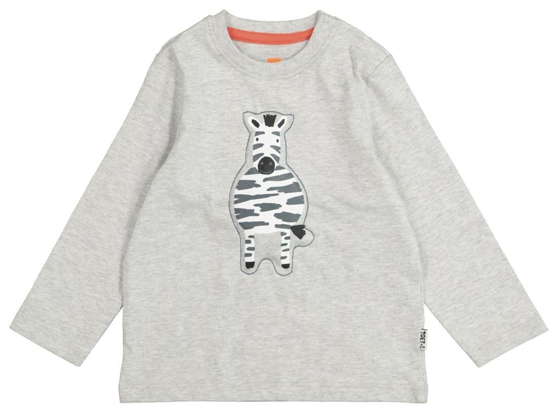 HEMA Baby T-shirt Grijsmelange (grijsmelange)
