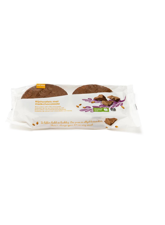 HEMA Rijstwafels Melkchocolade 2x3 Stuks