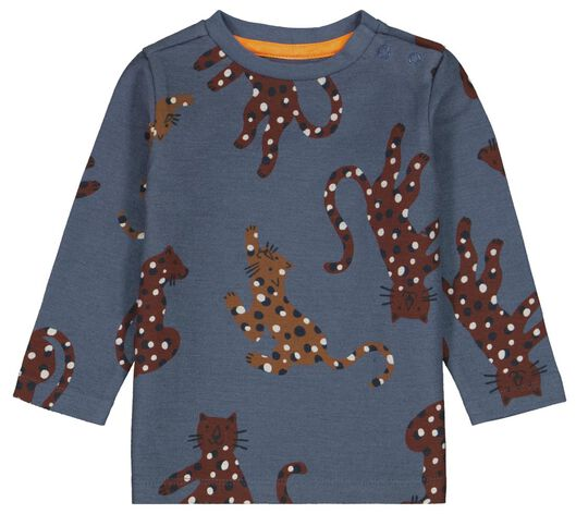baby t-shirt luipaard blauw blauw - 1000024474 - HEMA