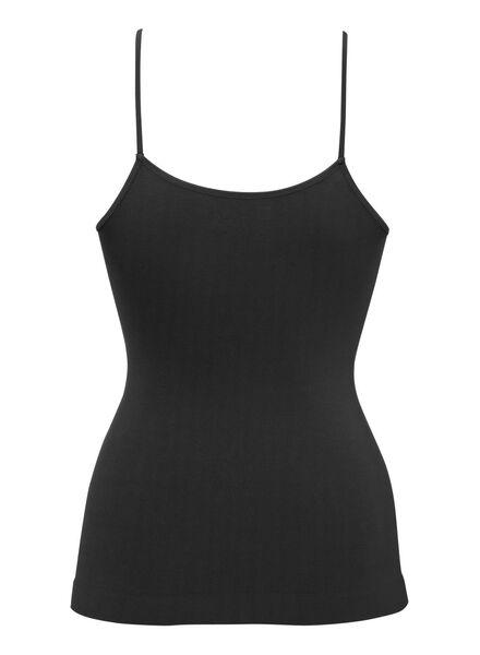 2-pak corrigerend dameshemd zwart zwart - 1000002385 - HEMA