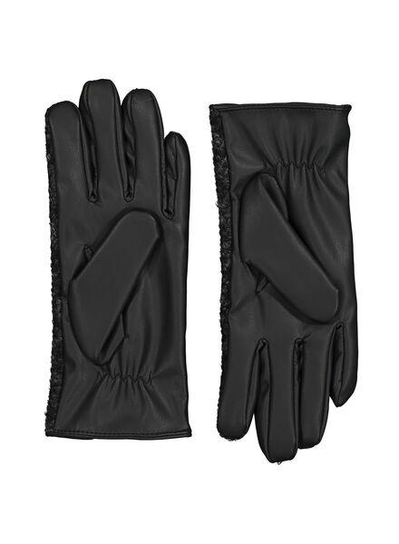dameshandschoenen touchscreen zwart zwart - 1000014510 - HEMA