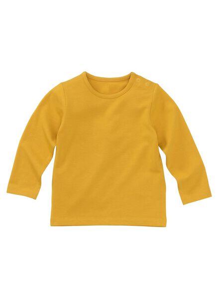 baby t-shirt bamboe geel geel - 1000011966 - HEMA