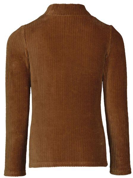 kinder top corduroy bruin 110/116 - 30867552 - HEMA