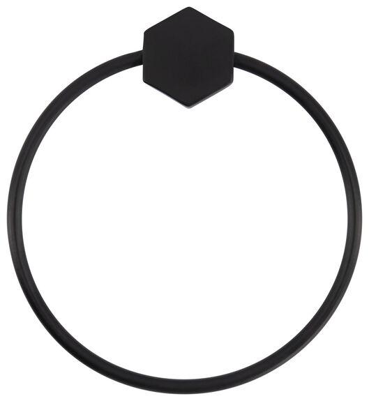 Gastendoekring Ø 15 cm metaal zwart