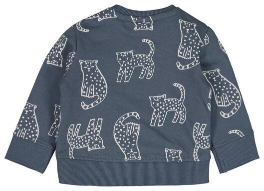 newborn sweater tijger donkerblauw donkerblauw - 1000022134 - HEMA