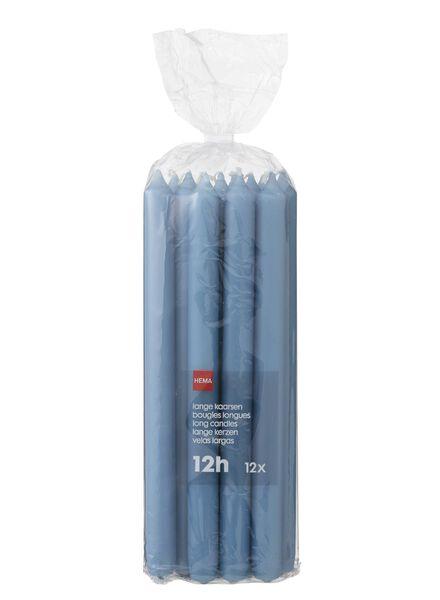 huishoudkaarsen - 29 cm - 12 stuks - blauw lichtblauw 2.2 x 29 - 13501937 - HEMA