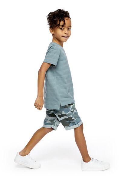 2-pak kindershorts donkergroen 158/164 - 30772336 - HEMA