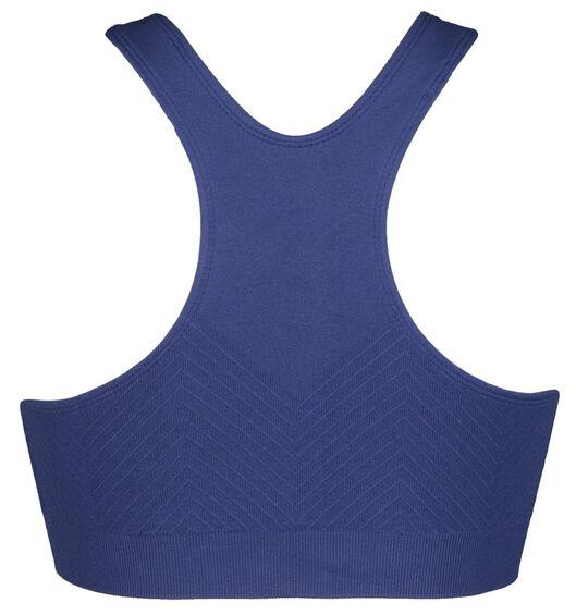 sporttop medium naadloos blauw blauw - 1000021264 - HEMA