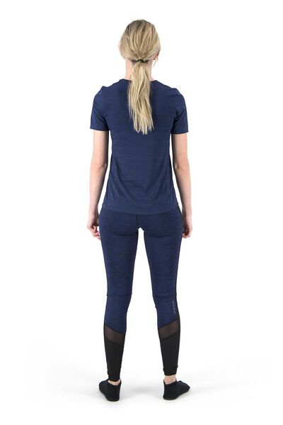 dames sportshirt slim fit donkerblauw donkerblauw - 1000018822 - HEMA