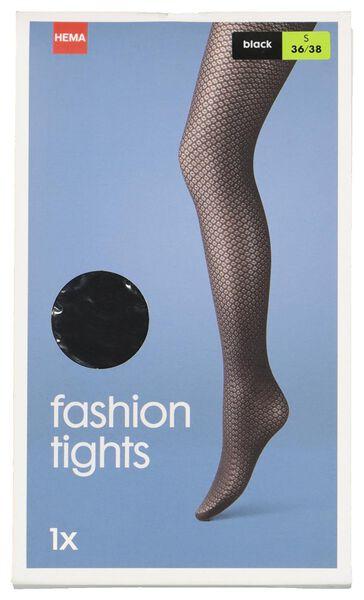 dames fashion panty zwart zwart - 1000016541 - HEMA