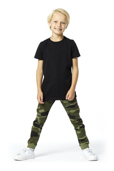 kinder sweatbroek legergroen 122/128 - 30737940 - HEMA