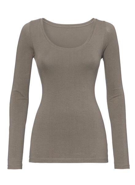 dames t-shirt beige beige - 1000005154 - HEMA