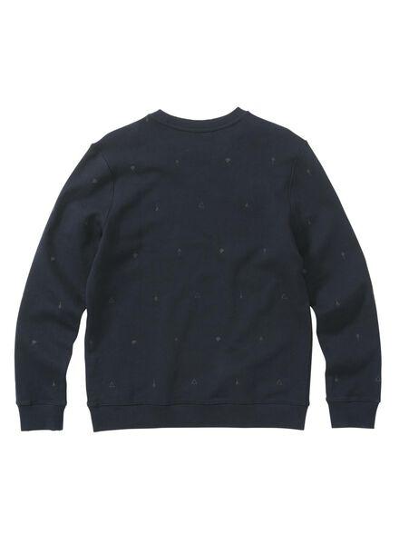 herensweater donkerblauw donkerblauw - 1000009495 - HEMA
