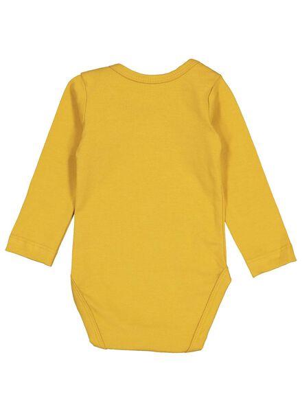 romper biologisch katoen stretch geel 98/104 - 33396715 - HEMA