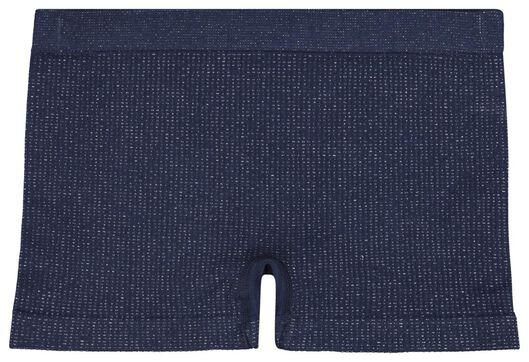 2-pak kinderboxers rib naadloos donkerblauw donkerblauw - 1000021572 - HEMA