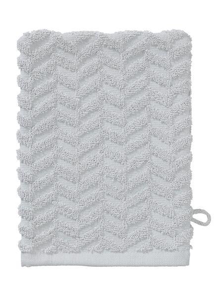 washandje zware kwaliteit - zigzag - lichtgrijs - 5200068 - HEMA