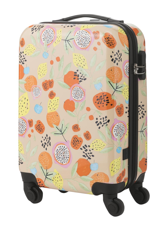 HEMA Koffer – 55 X 35 X 20 – Tropisch Fruit (roze)