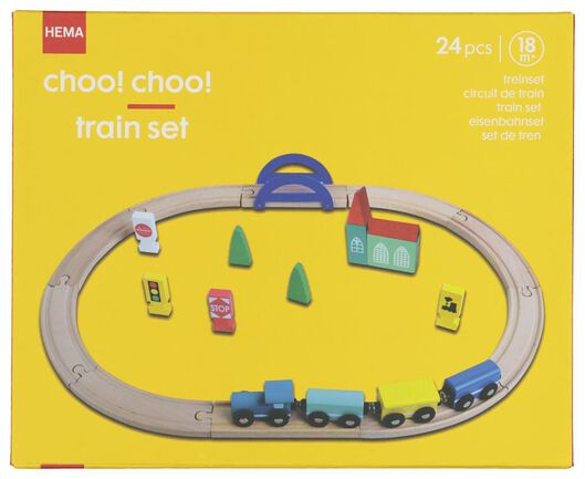 houten treinset - 15122234 - HEMA