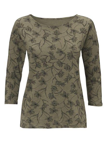 dames t-shirt olijf olijf - 1000012465 - HEMA