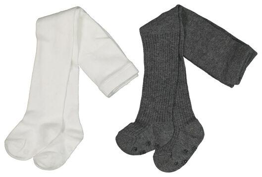 2-pak babymaillots grijsmelange grijsmelange - 1000020170 - HEMA
