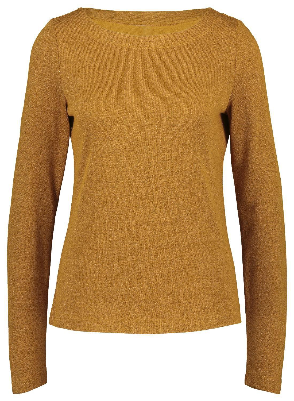 HEMA Dames T-shirt Glitter Okergeel (okergeel)