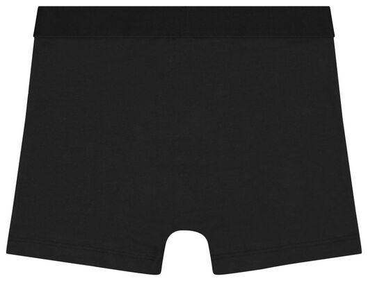 kinderboxers katoen stretch - 3 stuks zwart zwart - 1000022754 - HEMA